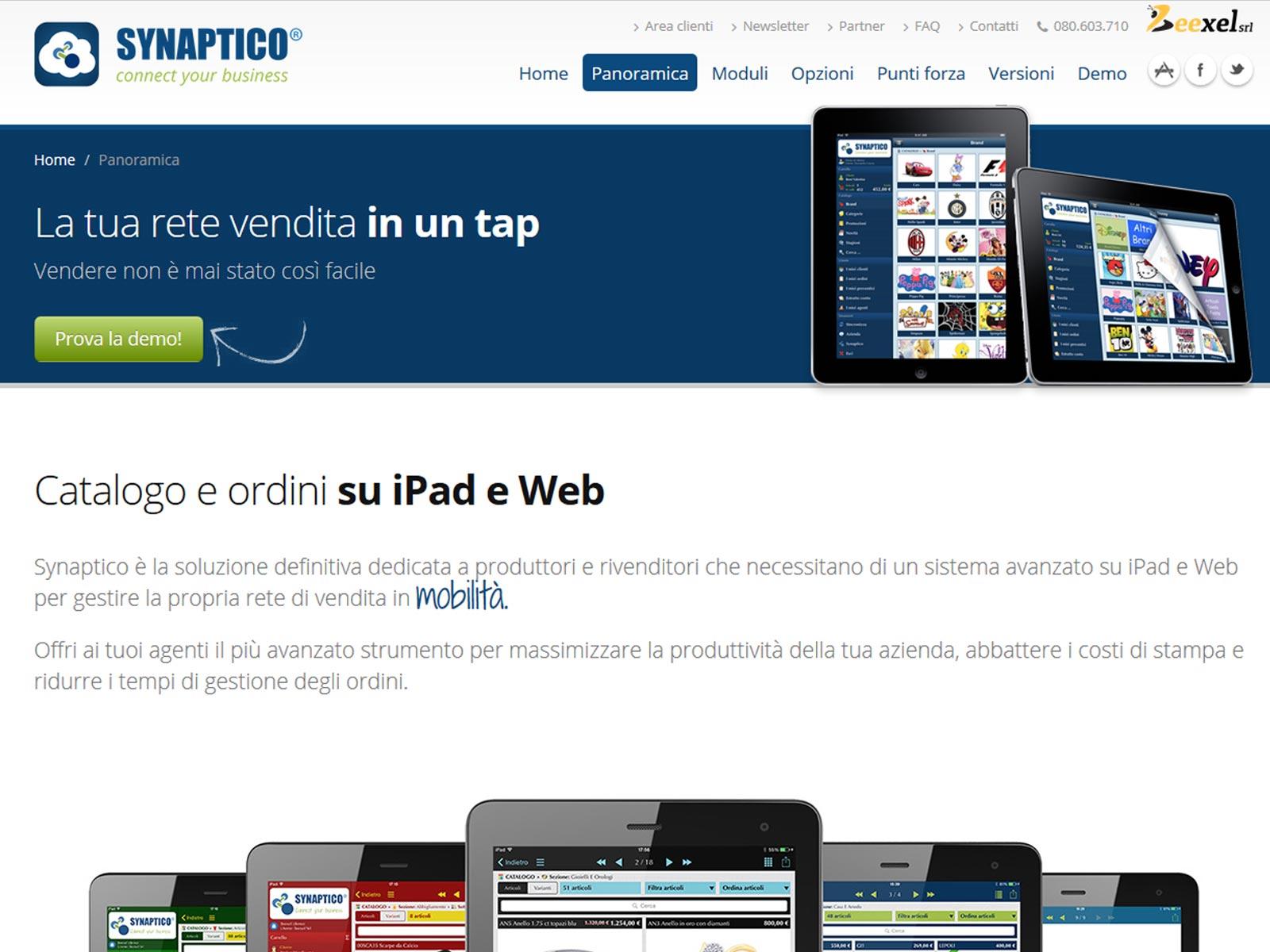 synaptico-ipad-catalogo portfolio beexel